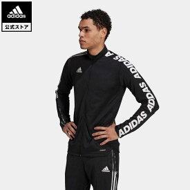 【公式】アディダス adidas 返品可 サッカー ティロ アシンメトリー テープ ジャケット / Tiro Asymmetrical Tape Jacket メンズ ウェア アウター ジャケット ジャージ 黒 ブラック GU9498