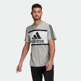 全品送料無料! 03/04 20:00〜03/11 09:59 【公式】アディダス adidas エッセンシャルズ ロゴ カラーブロック Tシャツ / Essentials Logo Colorblock Tee メンズ ウェア トップス Tシャツ グレー GV0256 半袖 p0304