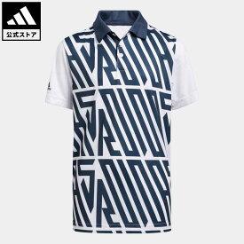 【公式】アディダス adidas ゴルフ BOYS ワードプリント S/Sシャツ キッズ ウェア トップス ポロシャツ 青 ブルー GM4112
