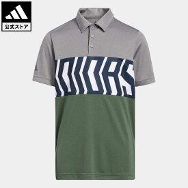 【公式】アディダス adidas 返品可 ゴルフ BOYS PRIMEGREEN カラーブロック 半袖シャツ / Print Colorblock Polo Shirt キッズ ウェア・服 トップス ポロシャツ グレー GM4117 notp
