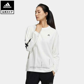 【公式】アディダス adidas 返品可 ワード 長袖Tシャツ / Word Long Sleeve Tee アスレティクス レディース ウェア トップス Tシャツ GM8757 ロンt