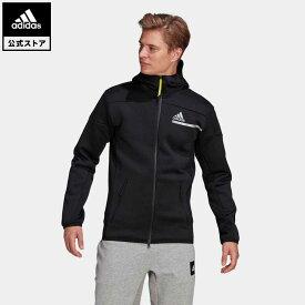 【公式】アディダス adidas 返品可 M adidas Z.N.E. IIM フルジップフーディ アスレティクス メンズ ウェア・服 トップス パーカー(フーディー) ジャージ 黒 ブラック GP7838 トレーナー
