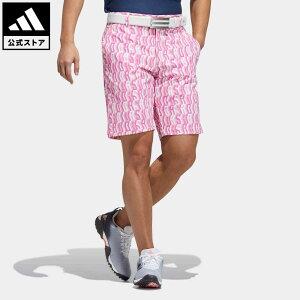 【公式】アディダス adidas 返品可 ゴルフ ADIDAS プリント ショートパンツ / Allover Print Shorts メンズ ウェア・服 ボトムス ハーフパンツ ピンク GR0216 notp