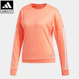 【公式】アディダス adidas 返品可 ランニング レスポンス 長袖シャツ / Response Long Sleeve Shirt レディース ウェア・服 トップス スウェット(トレーナー) オレンジ DZ2289 ランニングウェア