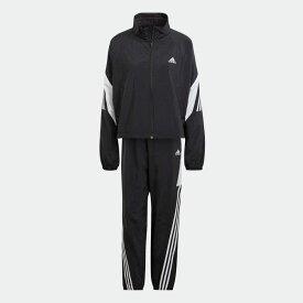【公式】アディダス adidas アディダス スポーツウェア ゲームタイム ウーブン トラックスーツ / adidas Sportswear Game-Time Woven Track Suit アスレティクス レディース ウェア セットアップ ジャージ 黒 ブ p0304