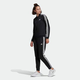 【公式】アディダス adidas エッセンシャルズ 3ストライプス トラックスーツ / Essentials 3-Stripes Track Suit レディース ウェア セットアップ ジャージ 黒 ブラック GM5534 上下 p0225