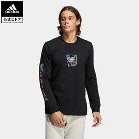 【公式】アディダス adidas 返品可 フローラル 長袖Tシャツ / Floral Tee メンズ ウェア・服 トップス Tシャツ 黒 ブラック GN7115 ロンt