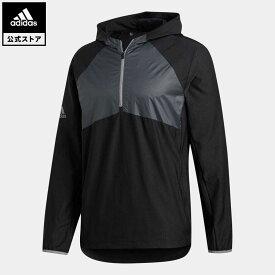 【公式】アディダス adidas ゴルフ パッカブルハーフジップウインドジャケット メンズ ウェア アウター ジャケット 黒 ブラック FQ8455