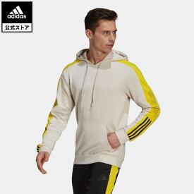 【公式】アディダス adidas 返品可 エッセンシャルズ フレンチテリー ロゴ カラーブロック パーカー / Essentials French Terry Logo Colorblock Hoodie メンズ ウェア・服 トップス パーカー(フーディー) スウェット(トレーナー) ベージュ GK9022 トレーナー