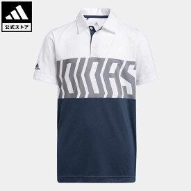 【公式】アディダス adidas ゴルフ BOYS PRIMEGREEN カラーブロック 半袖シャツ / Print Colorblock Polo Shirt キッズ ウェア トップス ポロシャツ 白 ホワイト GM4116