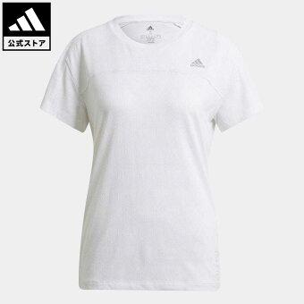 【公式】アディダス adidas 返品可 ランニング HEAT. RDY 半袖ランニングTシャツ / HEAT.RDY Running Tee レディース ウェア トップス Tシャツ 白 ホワイト GM1539 walking_jogging ランニングウェア 半袖
