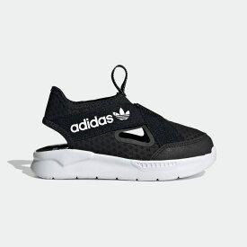 【公式】アディダス adidas 360 サンダル / 360 Sandals オリジナルス キッズ シューズ スニーカー スリッポン 黒 ブラック FX4946 ローカット