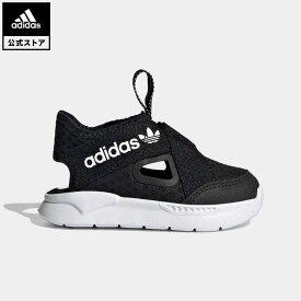 【公式】アディダス adidas 360 サンダル / 360 Sandals オリジナルス キッズ シューズ スニーカー スリッポン 黒 ブラック FX4949 ローカット