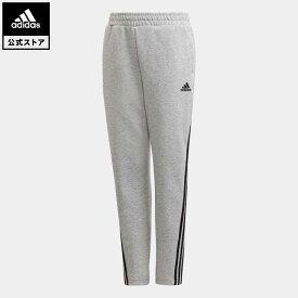 【公式】アディダス adidas 返品可 ジム・トレーニング 3ストライプス ダブルニット テーパードレッグパンツ / 3-Stripes Doubleknit Tapered Leg Pants キッズ ウェア・服 ボトムス パンツ グレー GE0667