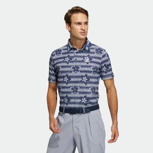 全品送料無料! 03/04 20:00〜03/11 09:59 【公式】アディダス adidas ゴルフ フラワープリント 半袖シャツ / Polo Shirt メンズ ウェア トップス ポロシャツ 青 ブルー GM0854