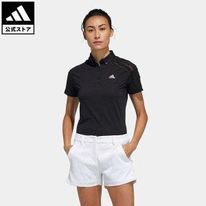 【公式】アディダス adidas ゴルフ HEAT.RDY 半袖ボタンダウンシャツ / Polo Shirt レディース ウェア トップス ポロシャツ 黒 ブラック GM3750