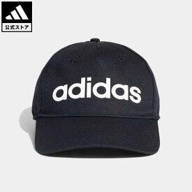 【公式】アディダス adidas 返品可 Kids デイリーリニアロゴキャップ レディース メンズ アクセサリー 帽子 キャップ 黒 ブラック DM6178