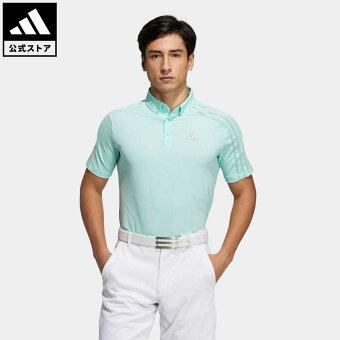 【公式】アディダス adidas 返品可 ゴルフ HEAT.RDY 半袖ボタンダウンシャツ / Polo Shirt メンズ ウェア トップス ポロシャツ 緑 グリーン GM3616 notp