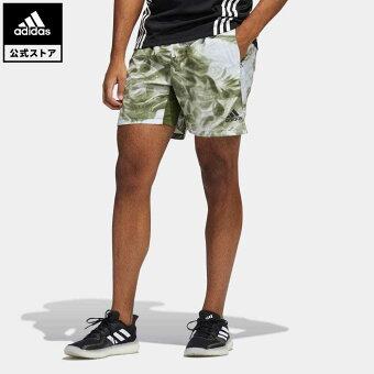 【公式】アディダス adidas 返品可 ジム・トレーニング ユナイト フローラル ショーツ(ジェンダーニュートラル)/ Unite Floral Shorts (Gender Neutral) メンズ ウェア ボトムス ハーフパンツ 緑 グリーン GK2914