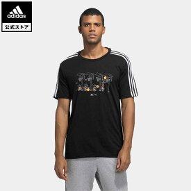 【公式】アディダス adidas 返品可 M 3ストライプス DISNEY グラフィックTシャツ メンズ ウェア・服 トップス Tシャツ 黒 ブラック GL3085 半袖