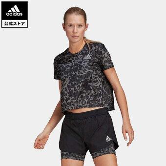 【公式】アディダス adidas 返品可 ランニング ファスト PRIMEBLUE グラフィック 半袖Tシャツ / Fast PRIMEBLUE Graphic Tee レディース ウェア トップス Tシャツ グレー GM1588 walking_jogging ランニングウェア 半袖