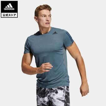 【公式】アディダス adidas 返品可 ジム・トレーニング HEAT. RDY 3ストライプス 半袖Tシャツ / HEAT. RDY 3-Stripes Tee メンズ ウェア トップス Tシャツ GP7659 半袖