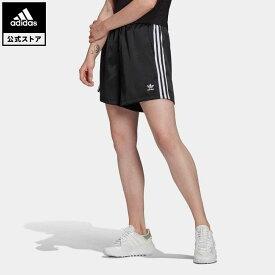 【公式】アディダス adidas 返品可 アディカラー クラシックス サテン ショーツ オリジナルス レディース ウェア ボトムス ハーフパンツ 黒 ブラック GN2774 eoss21ss
