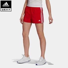 【公式】アディダス adidas 返品可 ジム・トレーニング W D2M GYM ウーブンショーツ レディース ウェア ボトムス ショートパンツ 赤 レッド GN3108