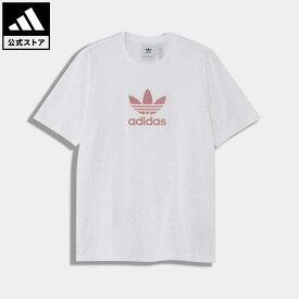 【公式】アディダス adidas 返品可 トレフォイル グラディエント Tシャツ オリジナルス メンズ ウェア・服 トップス Tシャツ 白 ホワイト GN3655 半袖