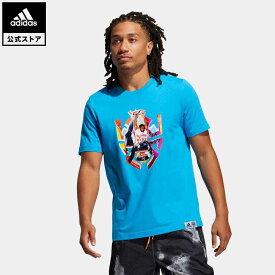 【公式】アディダス adidas 返品可 バスケットボール ドノバン・ミッチェル アブストラクション 半袖Tシャツ / Donovan Mitchell Abstraction Tee メンズ ウェア・服 トップス Tシャツ 青 ブルー GN9002 半袖