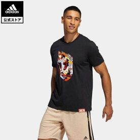 【公式】アディダス adidas 返品可 バスケットボール デイム アブストラクション 半袖Tシャツ / Dame Abstraction Tee メンズ ウェア・服 トップス Tシャツ 黒 ブラック GH6718 半袖