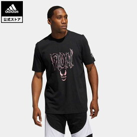 【公式】アディダス adidas 返品可 バスケットボール D.O.N. Issue #2 × マーベル ヴェノム Tシャツ メンズ ウェア・服 トップス Tシャツ 黒 ブラック GI8874 半袖