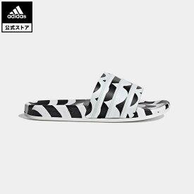 【公式】アディダス adidas 返品可 マリメッコ アディレッタ サンダル / Marimekko Adilette Slides オリジナルス レディース メンズ シューズ・靴 サンダル 黒 ブラック GW7536