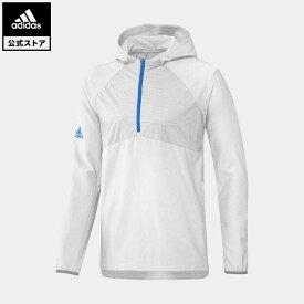 【公式】アディダス adidas 返品可 ゴルフ パッカブルハーフジップウインドジャケット メンズ ウェア・服 アウター ジャケット 白 ホワイト FQ8457 notp