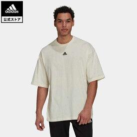【公式】アディダス adidas 返品可 Terra Love オーガニックコットンTシャツ / Terra Love Organic Cotton Tee アスレティクス メンズ ウェア トップス Tシャツ ベージュ H54034 半袖