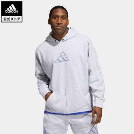 【公式】アディダス adidas 返品可 バスケットボール ダニエル・パトリック × アディダス バスケットボール パーカー メンズ ウェア・服 トップス スウェット(トレーナー) グレー GU2284 mss21fw