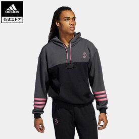 【公式】アディダス adidas 返品可 バスケットボール デイム D.O.L.L.A. EXTPLY パーカー / Dame D.O.L.L.A. EXTPLY Hoodie メンズ ウェア・服 トップス パーカー(フーディー) スウェット(トレーナー) グレー H50001 mss21fw トレーナー