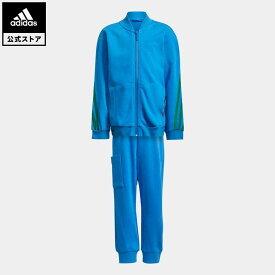 【公式】アディダス adidas 返品可 ジム・トレーニング adidas × クラシック LEGO 3ストライプス トラックスーツ / adidas × Classic LEGO 3-Stripes Track Suit キッズ ウェア・服 セットアップ 青 ブルー H26649 上下