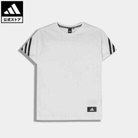 【公式】アディダス adidas 返品可 ジム・トレーニング フューチャーアイコン 3ストライプス 半袖Tシャツ / Future Icons 3-Stripes Tee キッズ ウェア・服 トップス Tシャツ 白 ホワイト H26629 半袖