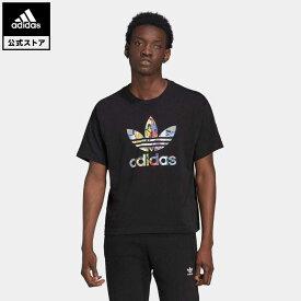 【公式】アディダス adidas 返品可 ラブ ユナイツ トレフォイル Tシャツ(ジェンダーニュートラル) オリジナルス メンズ ウェア・服 トップス Tシャツ 黒 ブラック HE2520 半袖