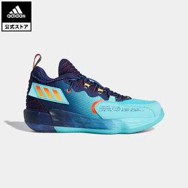 【公式】アディダス adidas 返品可 バスケットボール デイム 7 EXTPLY: デイムタイム / Dame 7 EXTPLY: DAME TIME メンズ シューズ・靴 スポーツシューズ 青 ブルー GV9878 バッシュ