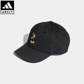 【公式】アディダス adidas 返品可 ディズニー ミッキー ベースボールキャップ オリジナルス キッズ アクセサリー 帽子 キャップ 黒 ブラック H32451