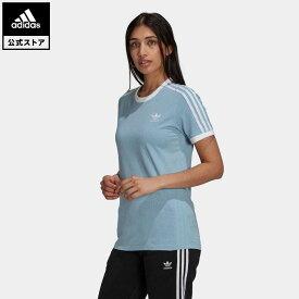 【公式】アディダス adidas 返品可 アディカラー クラシックス 3ストライプ 半袖Tシャツ オリジナルス レディース ウェア・服 トップス Tシャツ 青 ブルー H33574 mss21fw 半袖