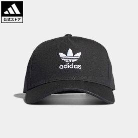 【公式】アディダス adidas 返品可 アディカラー クラシック トレフォイル カーブド クローズド トラッカーキャップ オリジナルス レディース メンズ アクセサリー 帽子 キャップ 黒 ブラック H34670