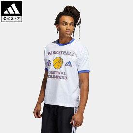 【公式】アディダス adidas 返品可 バスケットボール エリック エマニュエル フープス サマー エッセンシャルズ Tシャツ メンズ ウェア・服 トップス Tシャツ 白 ホワイト H48543 mss21fw 半袖