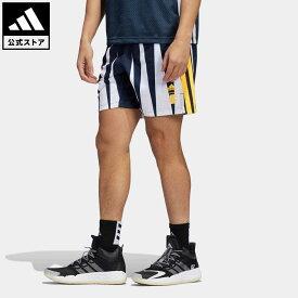【公式】アディダス adidas 返品可 バスケットボール エリック エマニュエル フープス サマー エッセンシャルズ ショーツ メンズ ウェア・服 ボトムス ハーフパンツ 青 ブルー H56398 mss21fw