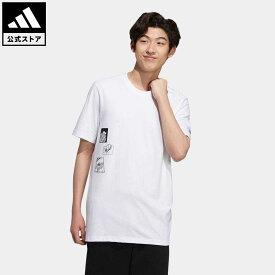 【公式】アディダス adidas 返品可 マンガ 半袖Tシャツ オリジナルス メンズ ウェア・服 トップス Tシャツ 白 ホワイト HD9088 半袖