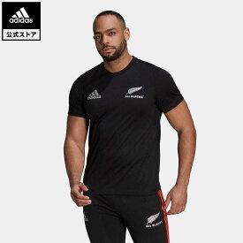 【公式】アディダス adidas 返品可 ラグビー オールブラックス ラグビー コットン半袖Tシャツ メンズ ウェア・服 トップス Tシャツ 黒 ブラック GU3158 mss21fw 半袖