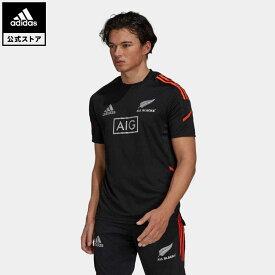 【公式】アディダス adidas 返品可 ラグビー オールブラックス ラグビー パフォーマンス 半袖Tシャツ プライムブルー メンズ ウェア・服 トップス Tシャツ 黒 ブラック GU3183 半袖