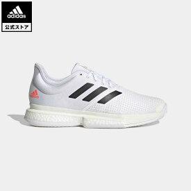 【公式】アディダス adidas 返品可 テニス SoleCourt M Primeblue AC メンズ シューズ・靴 スポーツシューズ 白 ホワイト H69213 テニスシューズ